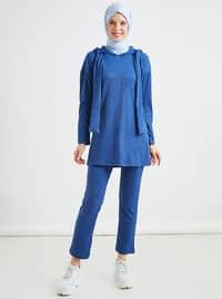 İndigo - Astarsız kumaş - Viskon - Takım Elbise