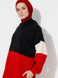 Red - Navy Blue -  - Tracksuit Top