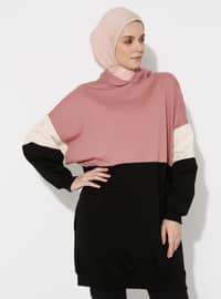 Dusty Rose - Black -  - Tracksuit Top