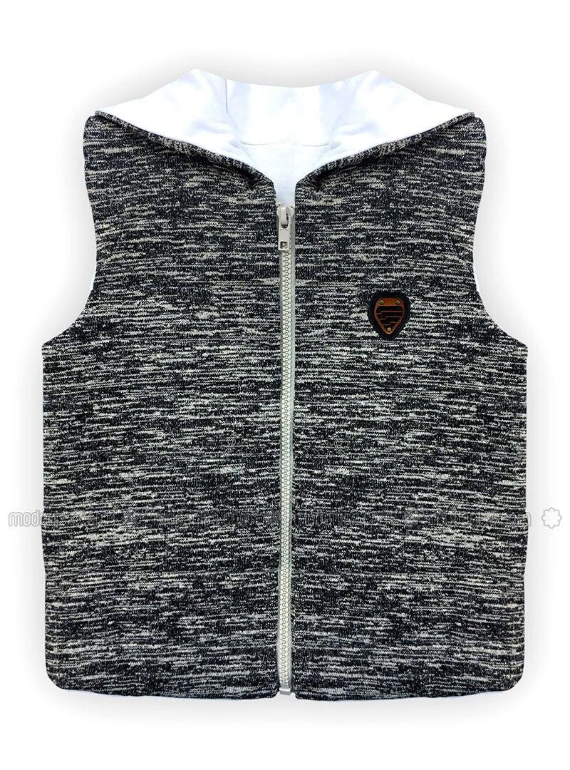 Crew neck - - Unlined - Gray - Boys` Vest