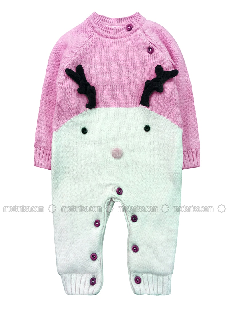 Crew neck -  - Unlined - Pink - Overall