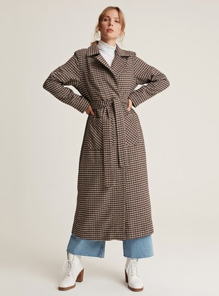 Black - Mink - Unlined - Shawl Collar -  - Wool Blend - Coat