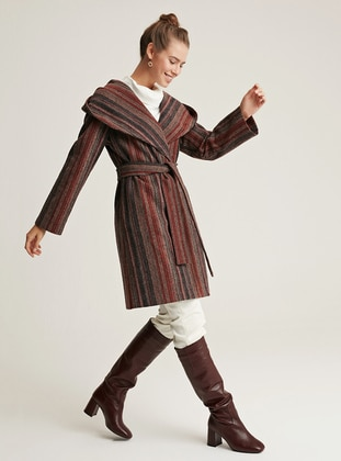 Maroon - Viscose - Coat