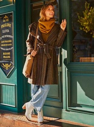 Khaki - Viscose - Coat