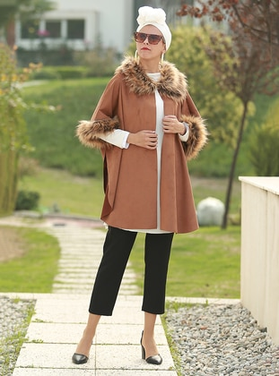 Tan - Unlined - Poncho