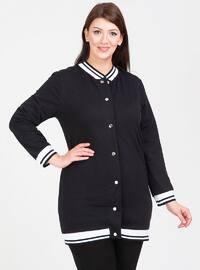 Black - Unlined - Viscose - Plus Size Jacket