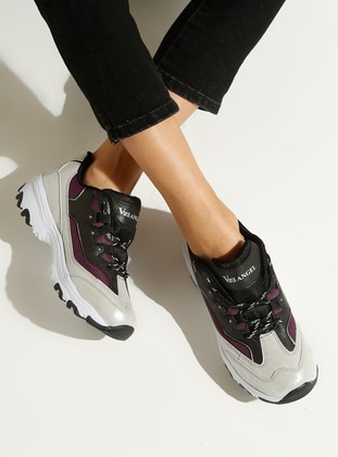 Silver tone - Purple - Sport - Sports Shoes