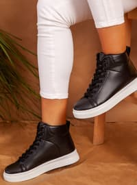 White - Black - Casual - Shoes