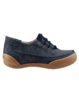 Navy Blue - Flat Shoes
