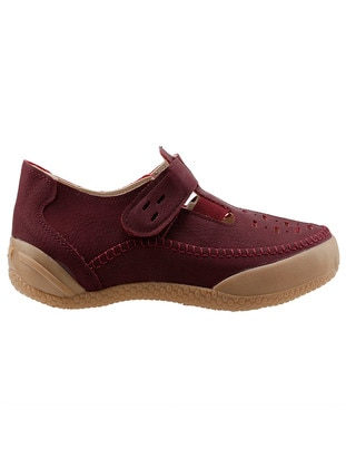 Maroon - Flat Shoes