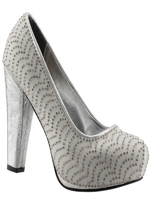 Silver tone - Evening Shoes