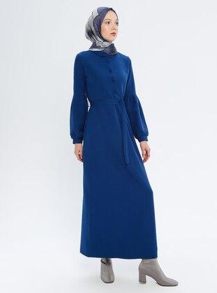 Indigo - Indigo - Round Collar - Unlined - Dress