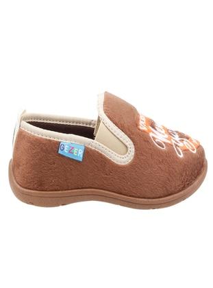 Brown - Boys` Slippers - Gezer