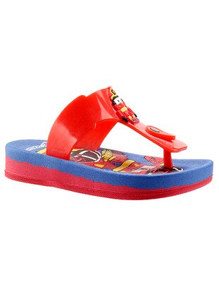 Red - Boys` Slippers