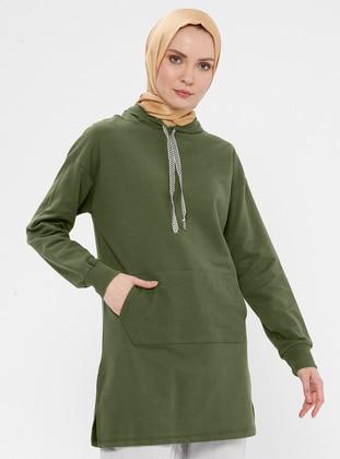 Viscose - Khaki - Sweat-shirt