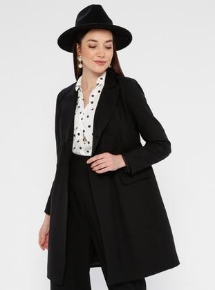 Black - Fully Lined - Shawl Collar - Jacket