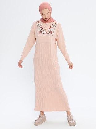Powder - Crew neck - Unlined - Acrylic -  - Wool Blend - Dress