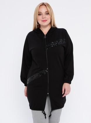 Black -  - Plus Size Tunic