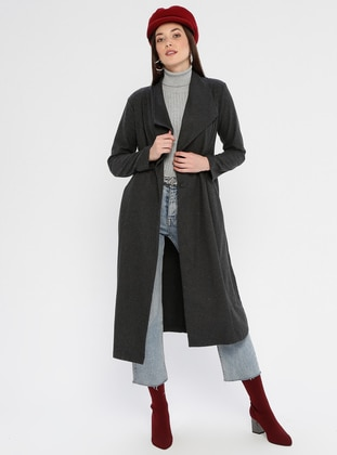 Anthracite - Unlined - Shawl Collar -  - Jacket