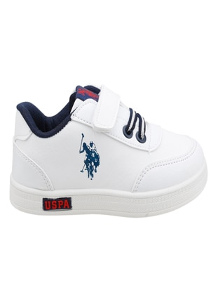 White - Boys` Shoes - U.S. Polo
