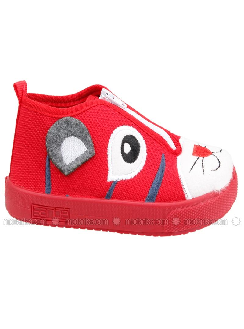 Girls Red Slipper Size S//M