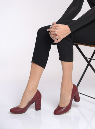 Maroon - High Heel - Heels