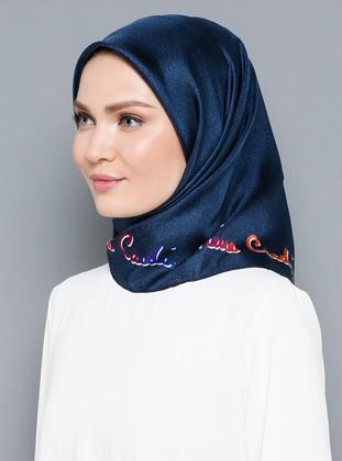 Multi - %100 Silk - Twill - Scarf