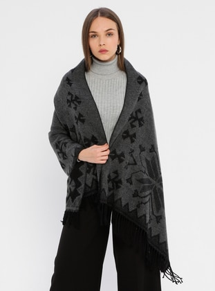 Black - Multi - Poncho