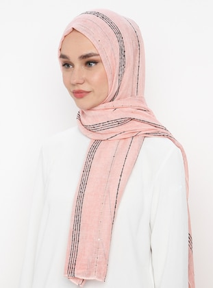 Pink - Plain -  - Shawl