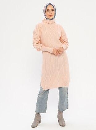Salmon - Polo neck - Acrylic -  - Tunic