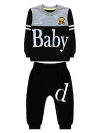 Crew neck -  - Unlined - Black - Baby Suit