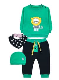 Crew neck -  - Green - Baby Suit