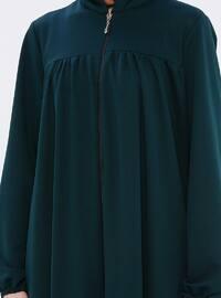 Green - Unlined - Crew neck - Abaya