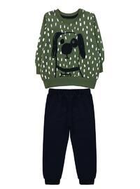 Crew neck -  - Unlined - Green - Boys` Suit