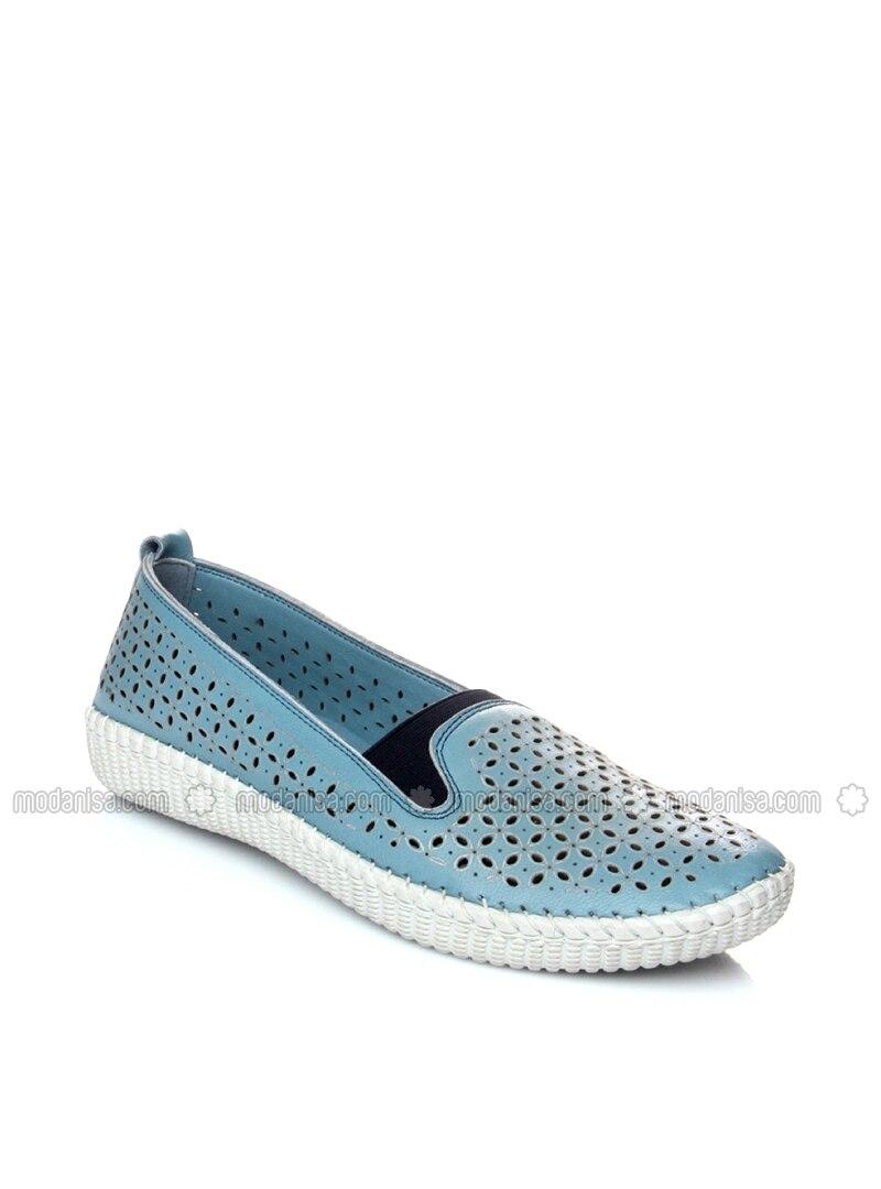 Blue - Flat - Denim - Flat Shoes