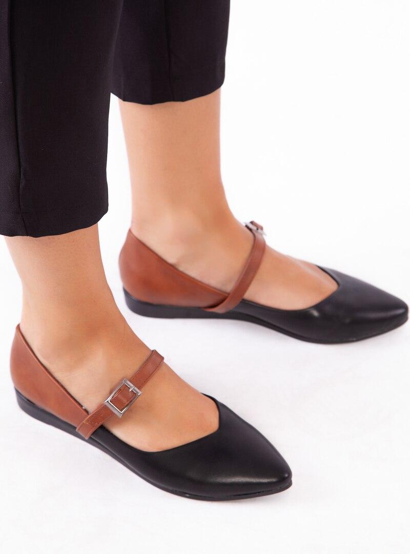 Tesettür Günlük Ayakkabı Havuzu Siyah Taba Kadın 38