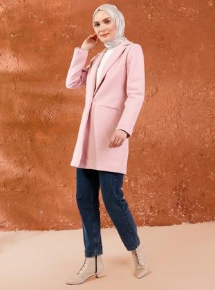 Powder - Fully Lined - Shawl Collar -  - Coat