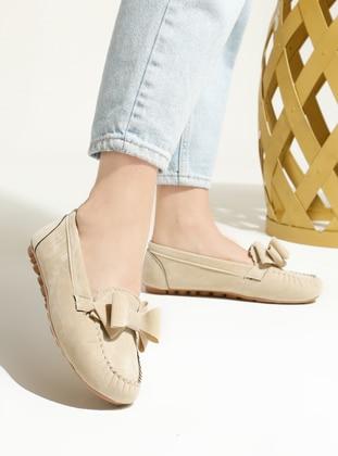 Beige - Flat - Flat Shoes - Artshoes