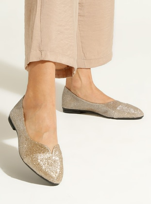Gold - Flat - Flat Shoes - Artshoes