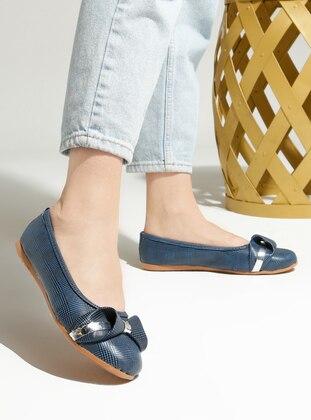 Navy Blue - Flat - Flat Shoes - Artshoes
