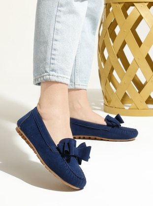 Navy Blue - Flat - Flat Shoes - Artshoes
