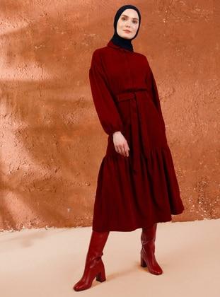 Maroon - Unlined -  - Skirt