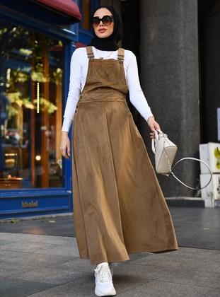 Beige - Unlined - Dress