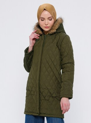 Khaki - Fully Lined - Puffer Jackets