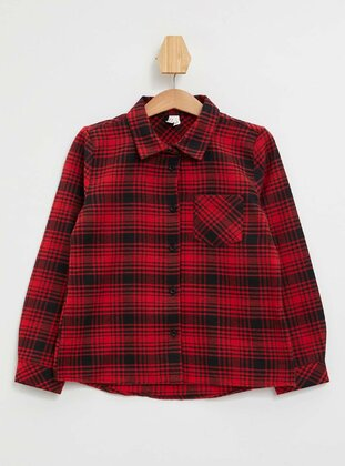 Red - Girls` Shirt - DeFacto