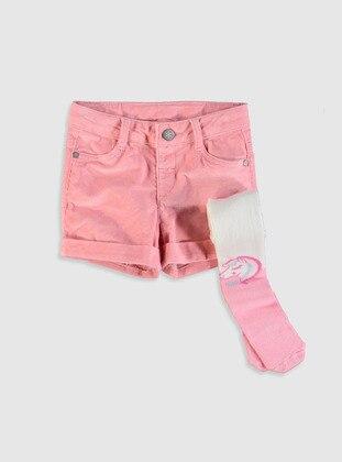 Pink - Girls` Shorts - LC WAIKIKI