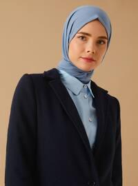 Navy Blue - Fully Lined - Shawl Collar -  - Coat