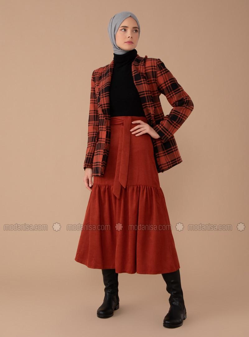 Terra Cotta - Unlined - - Skirt