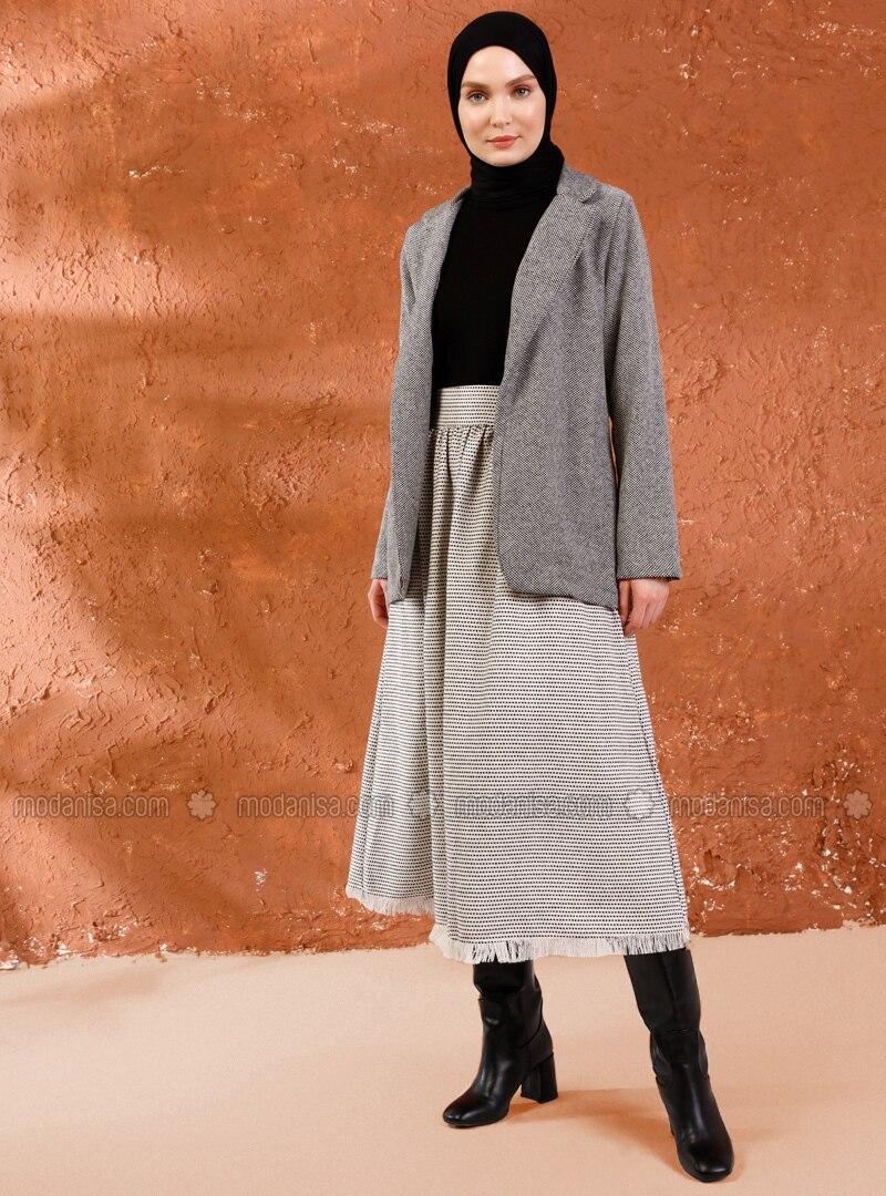 Beige - Multi - Unlined -  - Skirt