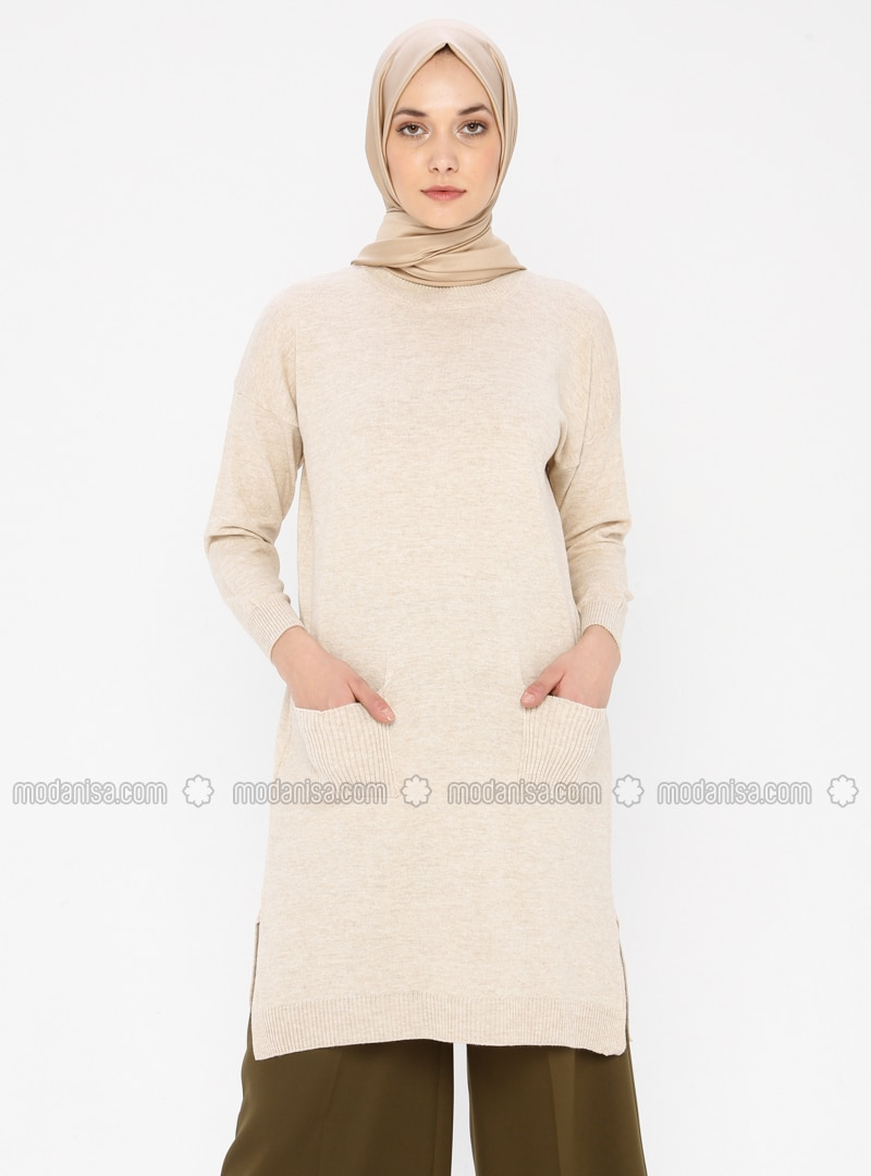 Mink - Polo neck - Acrylic -  - Tunic